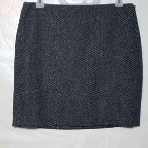 Banana Republic Tweed Pocket Mini Skirt Sz 6